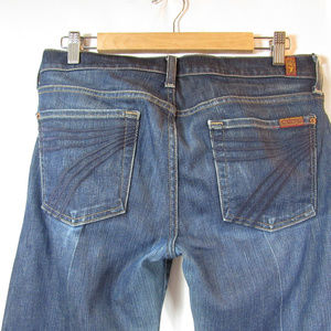 7 For All Mankind Jeans - 7 For All Mankind Dojo Flare Denim Dark Jeans